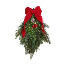 Swag - pine bough, decorated
