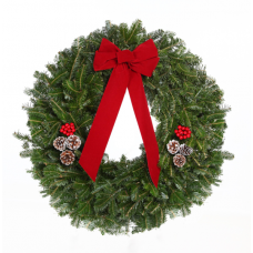 Wreath - pine bough, 22 inch, decorated